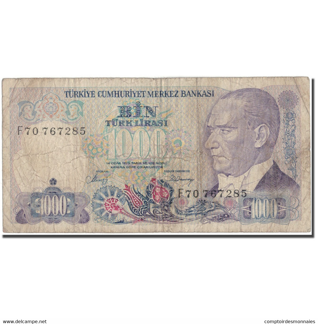 Billet, Turquie, 1000 Lira, 1970, KM:196, B - Turquie