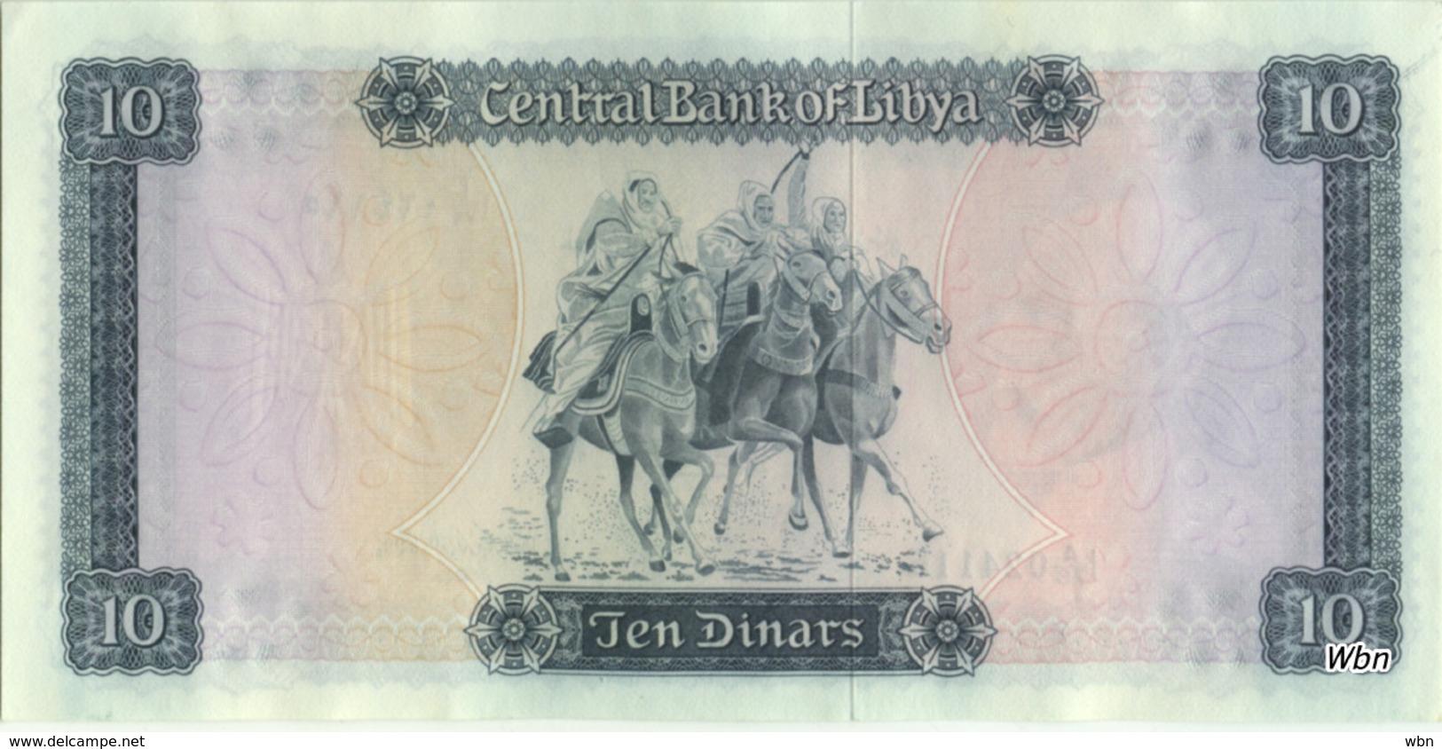 Libya 10 Dinars (P37b) 1972 -aUNC- - Libya