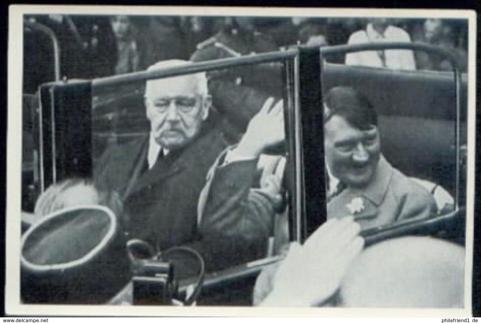 WW II Sammelbild Nr. 126 NSDAP Deutschland Erwacht : Adolf Hitler Der Führer Mit Hindenburg Im Auto 1. Mai 1933. - Germany