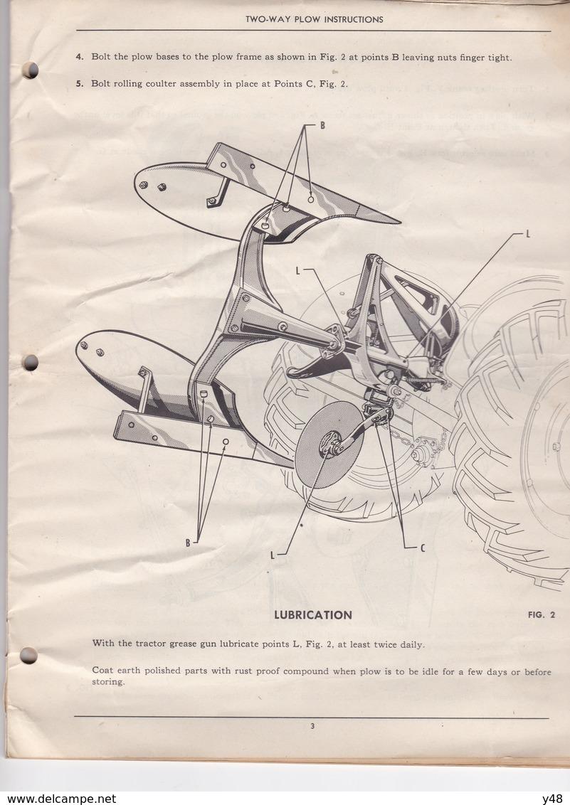 Fasicule Charrue  Pour Ferguson 1946 - Royaume-Uni