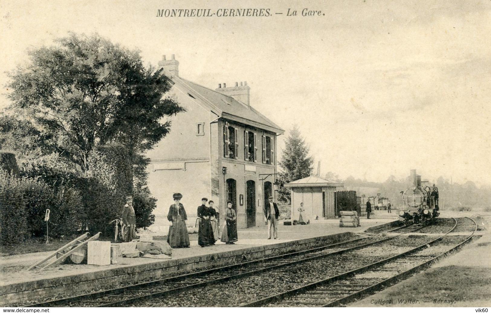 27  MONTREUIL CERNIERES  LA GARE - France