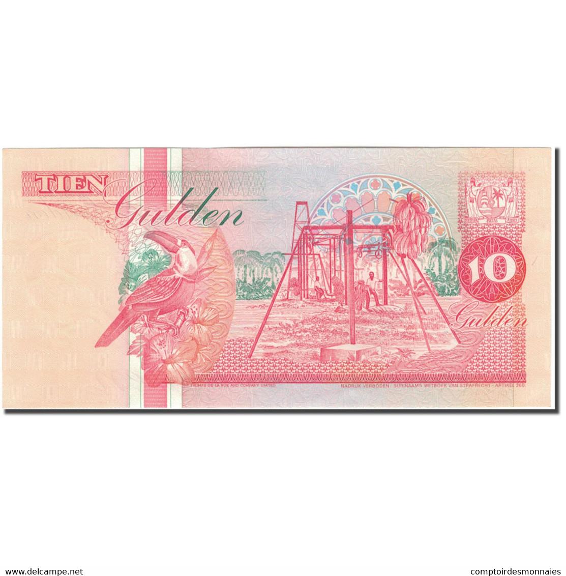 Billet, Surinam, 10 Gulden, 1991, 1991-07-09, KM:137a, NEUF - Surinam
