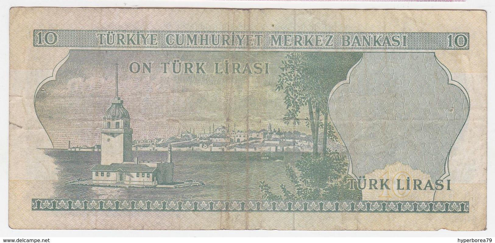 Turkey P 180 - 10 Lira 1966 - Fine+ - Turquie