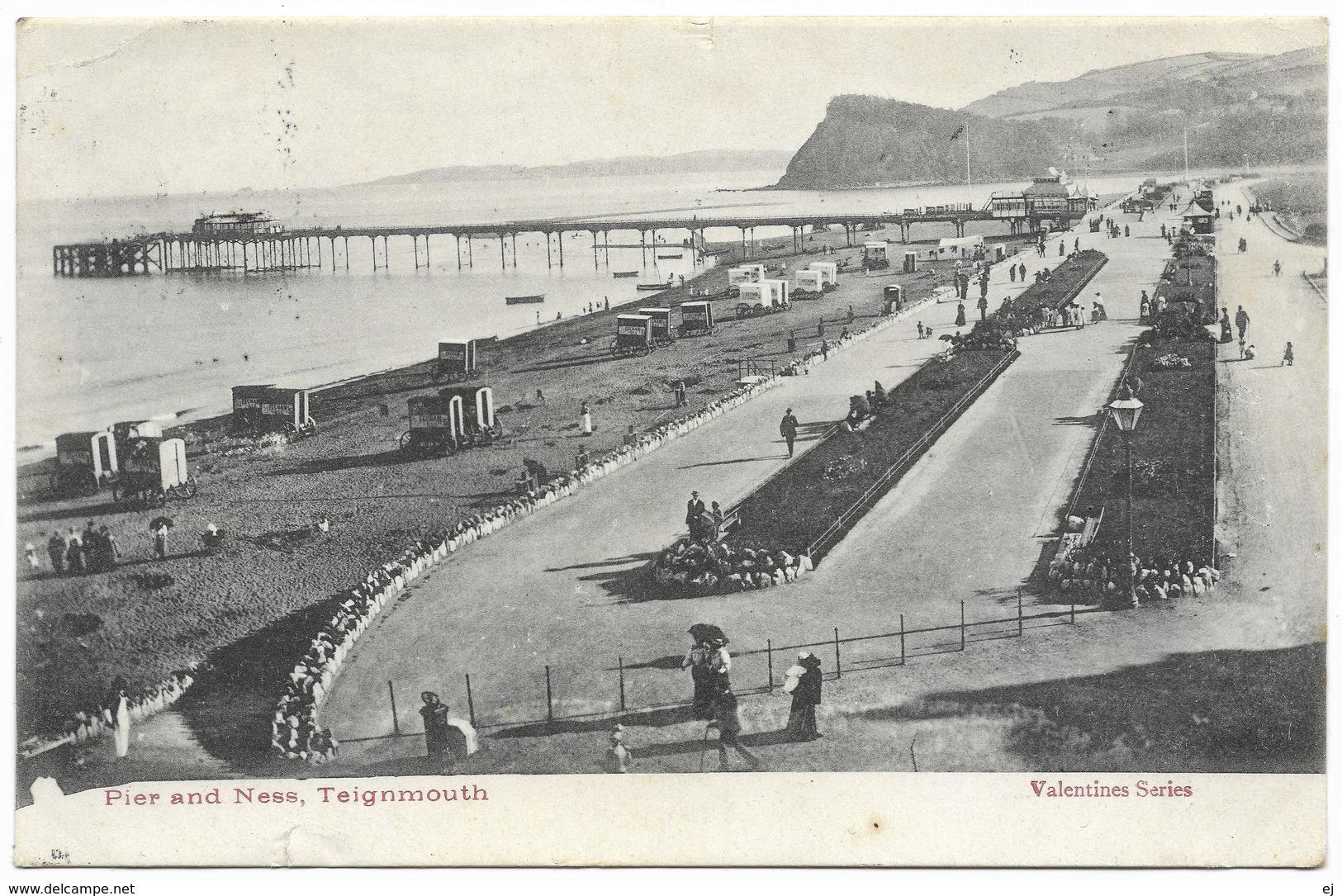 Pier And Ness Teignmouth Postmark 1903 - Valentine's - England
