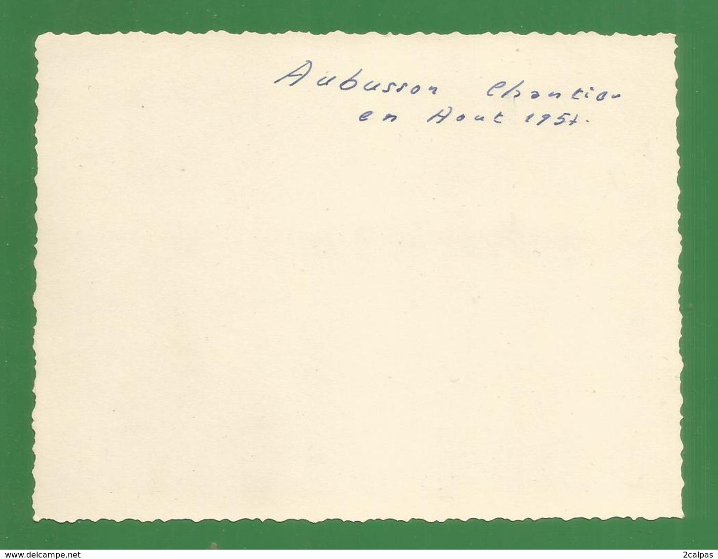23 - Aubusson  - Photo Originale 12 / 9 Cm ; En Aout 1957 ? : Construction De La Poste - Aubusson
