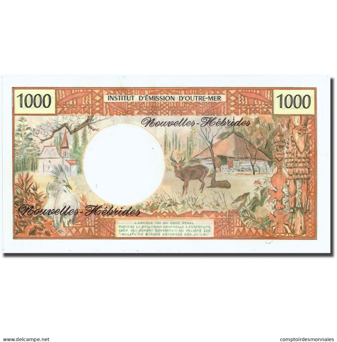 Billet, New Hebrides, 1000 Francs, Undated (1975), KM:20b, NEUF - Vanuatu