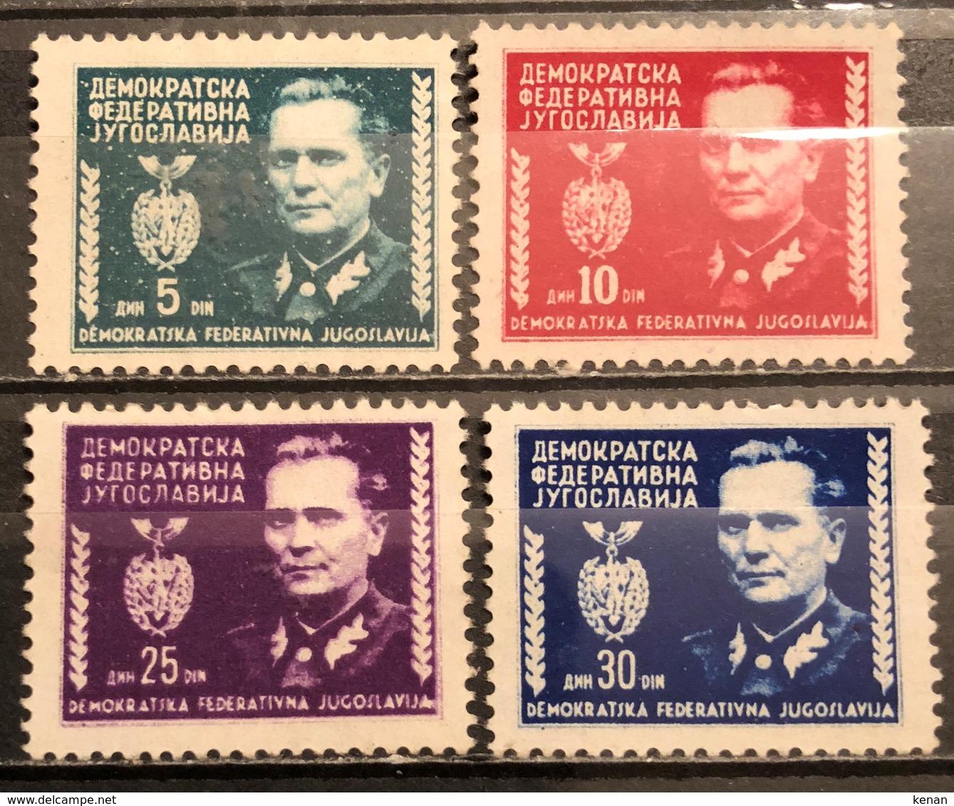 Yugoslavia ,1945, Mi: 454/57 (MNH) - 1945-1992 Repubblica Socialista Federale Di Jugoslavia