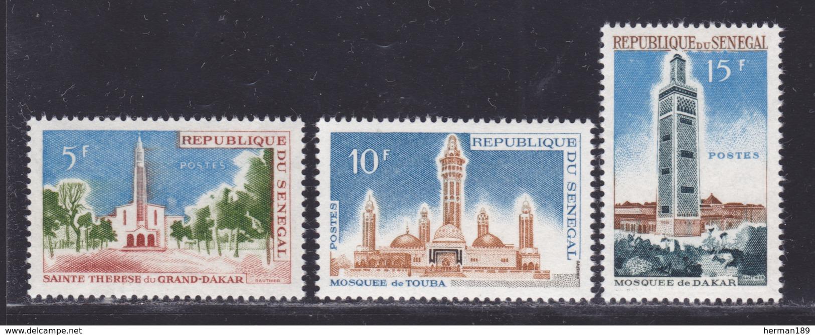 SENEGAL N°  242 à 244 ** MNH Neufs Sans Charnière, TB (D8352) Monuments Religieux -1964 - Senegal (1960-...)