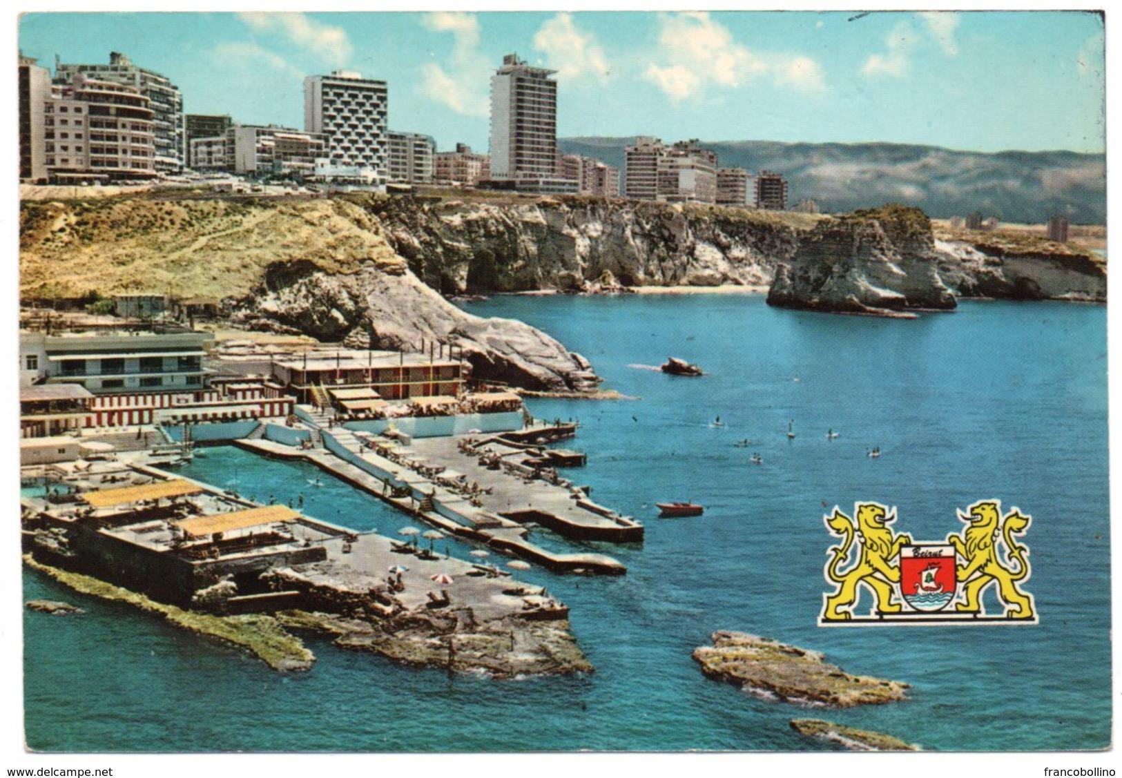 LIBAN/LEBANON - BEYROUTH MODERNE / MODERN BEIRUT - THE NEW RAOUCHE QUARTER AND THE PIGEONS ROCKS - Libano