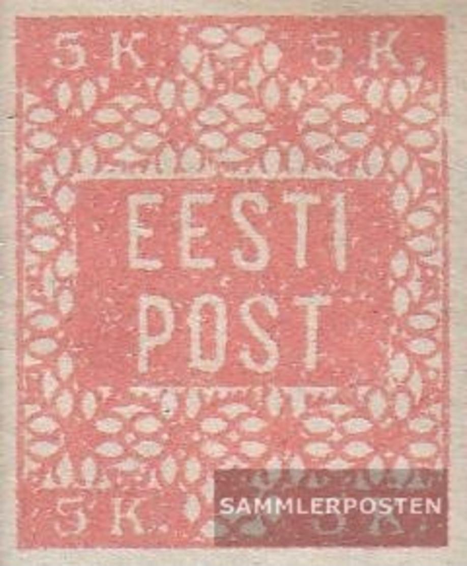 Estland 1B Con Fold 1918 Francobolli - Estonia