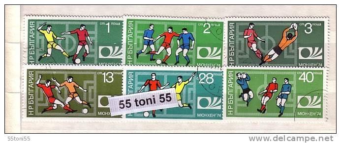 1974 World Cup-Germany 6v.- Used/oblit.(O) BULGARIA / Bulgarie - Gebraucht