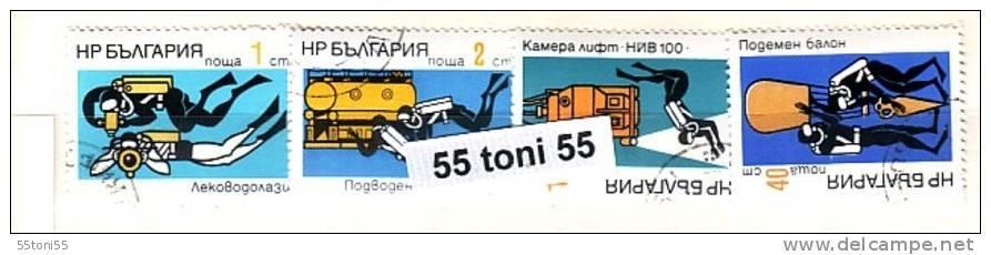 1973 Deep Sea Research 4v.- Used/oblit.(O) Bulgaria / Bulgarie - Gebraucht