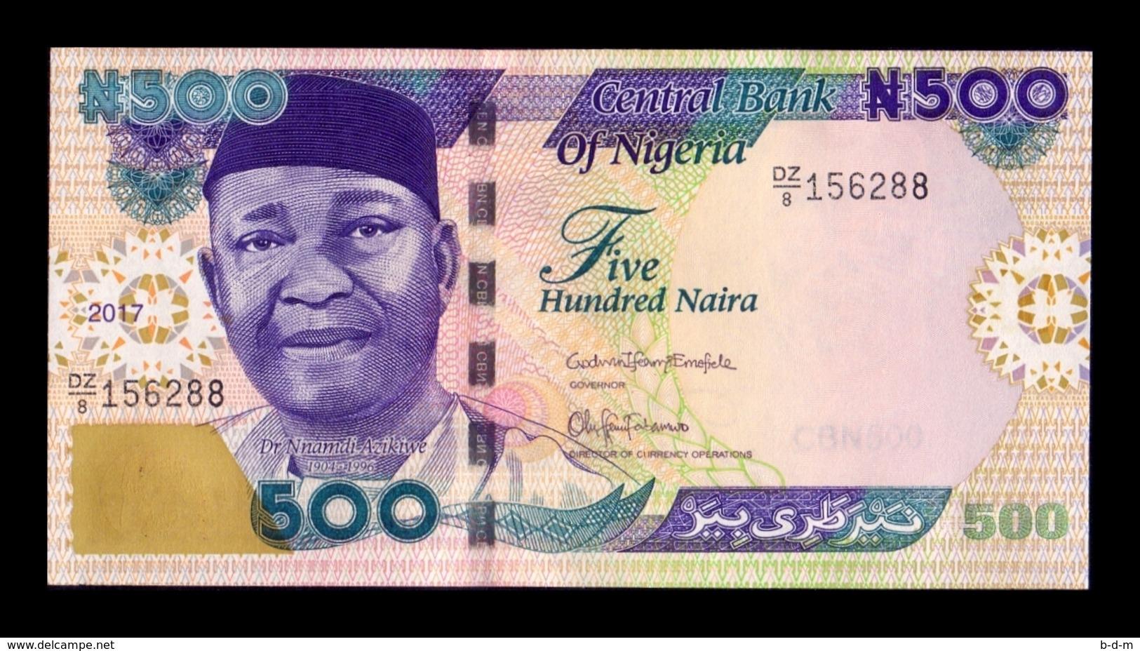 Nigeria 500 Naira 2017 Pick 30p Replacement Serie DZ SC UNC - Nigeria