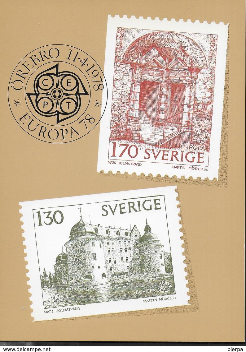 SVERIGE - EUROPA 1978 - NUOVA - Francobolli (rappresentazioni)