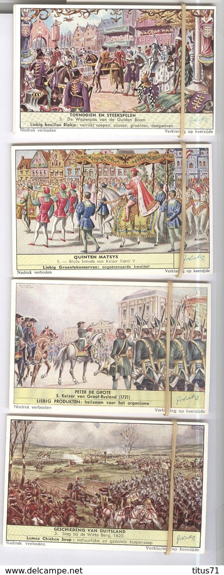 Lot De 144 Chromos Liebig Histoire En Néerlandais - Geschiedenis - Etat Neuf - Liebig