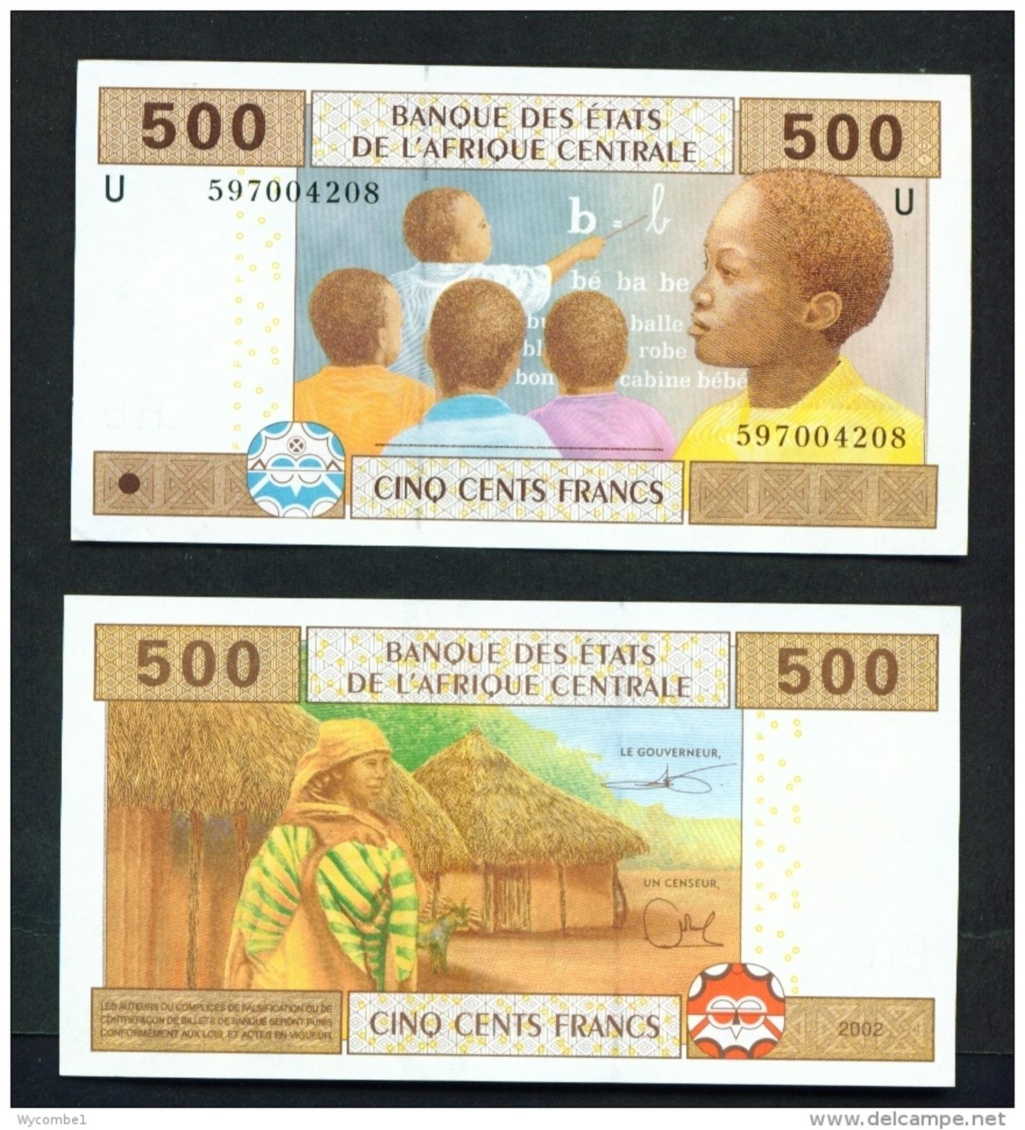 CAMEROON  -  2002  500 Francs  Education  Unc. - Kameroen