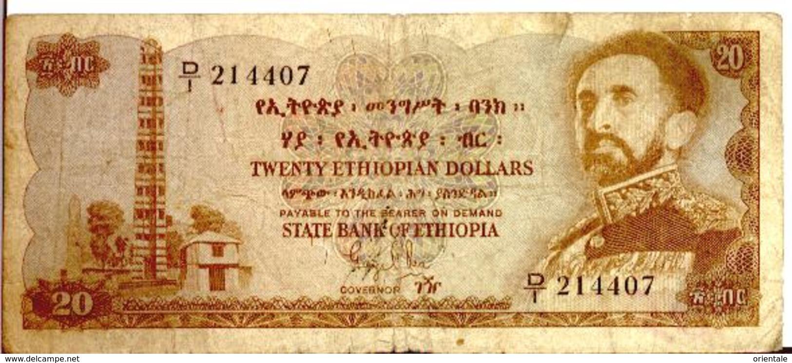 ETHIOPIA P. 21 20 D 1961 G - Ethiopie