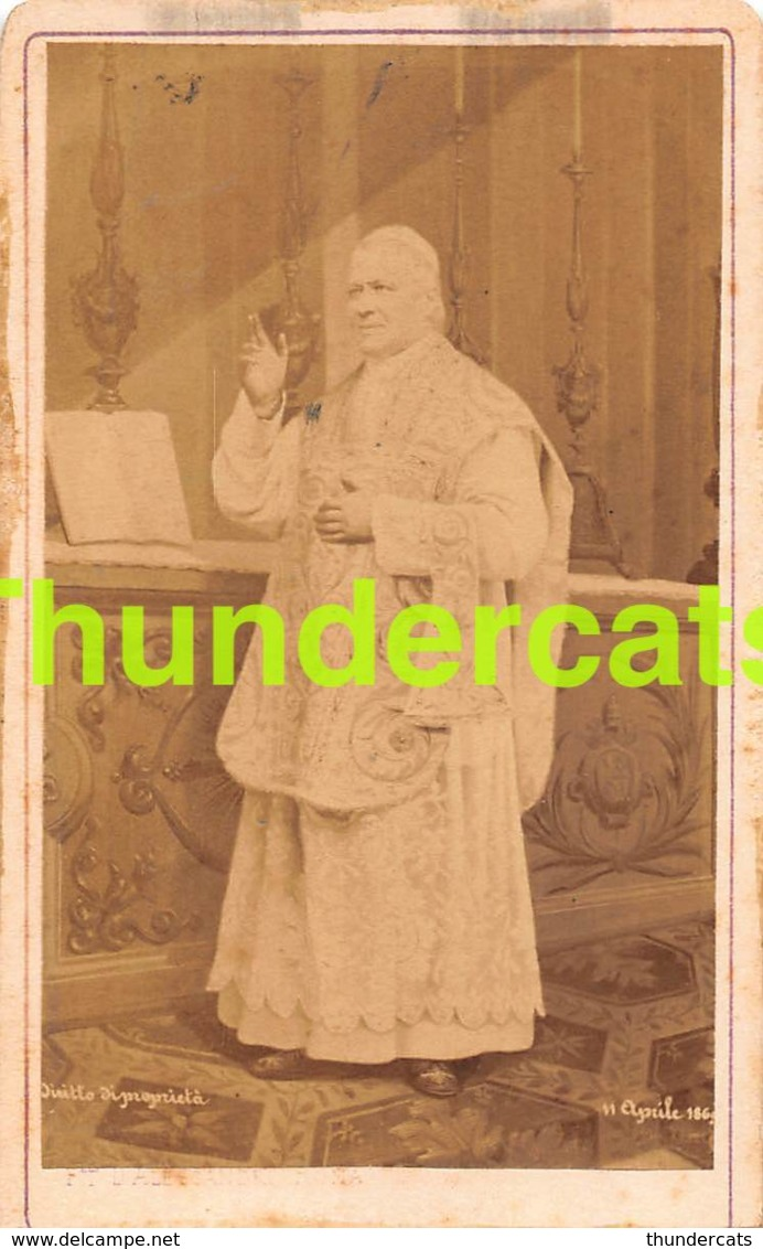 CDV PHOTO HOMME MALE MAN RELIGIEUX D'ALESSANDRI ROME PAPE PIUS POPE PIE IX - Antiche (ante 1900)