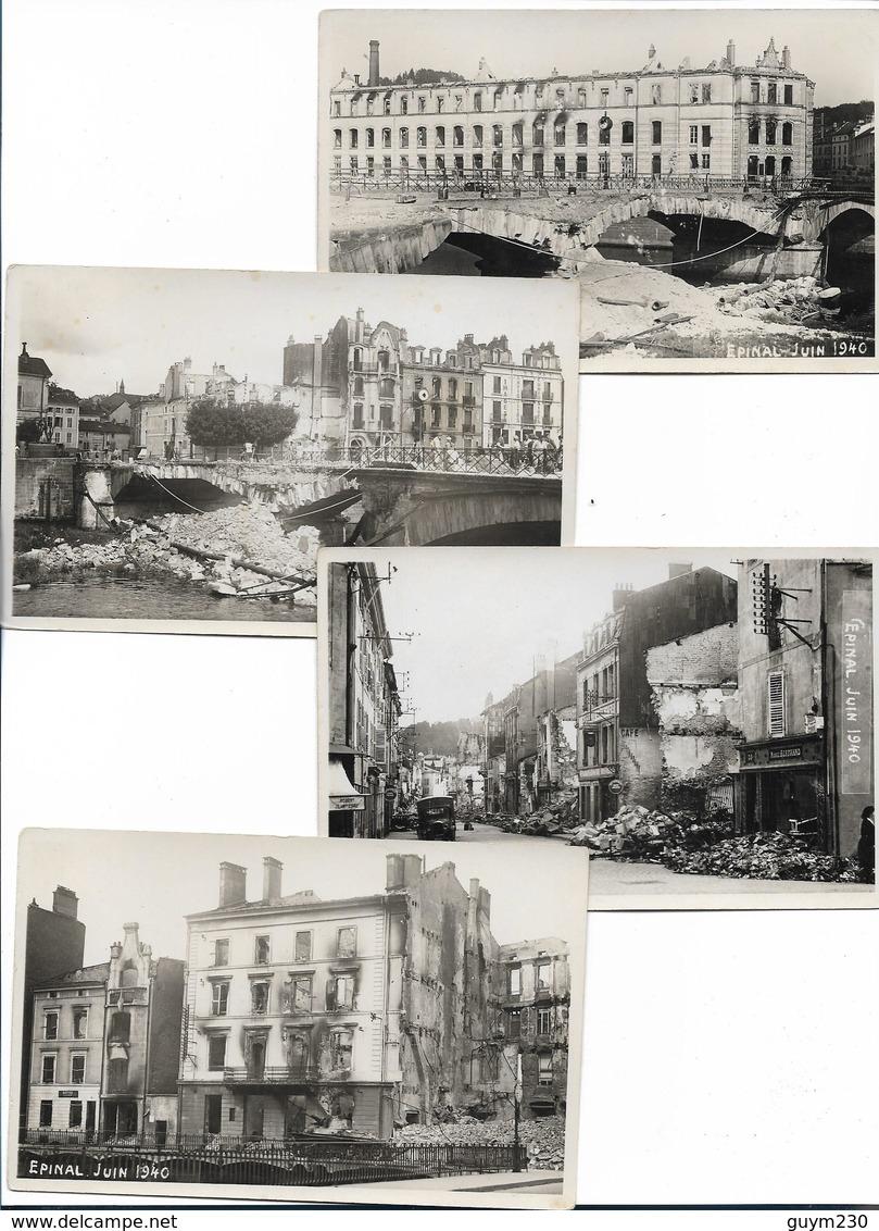 EPINAL - Lot De 13 Cartes Anciennes- Destructions De Juin 1940 - Epinal