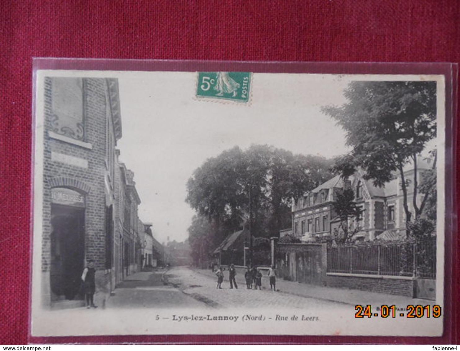 CPA - Lys-lez-Lannoy - Rue De Leers - France