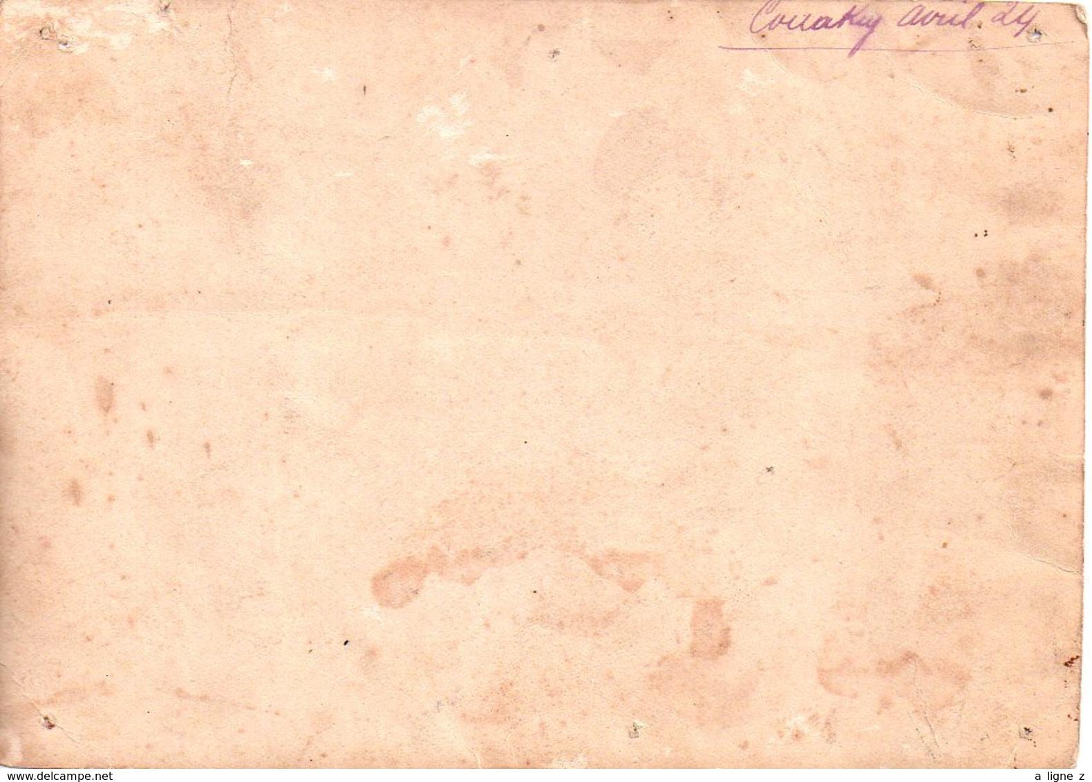 REF Photo 12 : Photo Originale 18 X 13 Cm - ¨photo Afrique Conakry Avril 1924 Pousse Pousse Famille Coloniale - Afrique