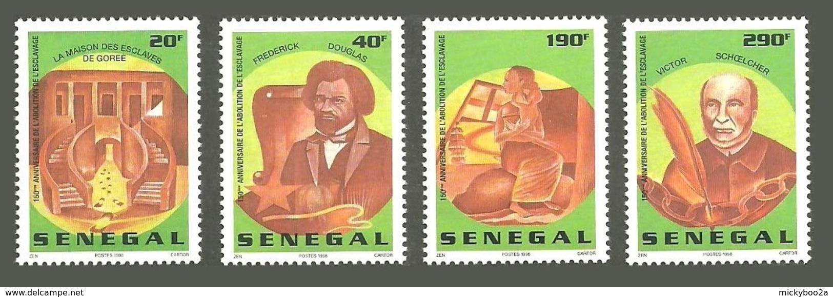 SENEGAL 1998 150TH ANNIVERSARY OF THE ABOLITION OF SLAVERY SET MNH - Senegal (1960-...)