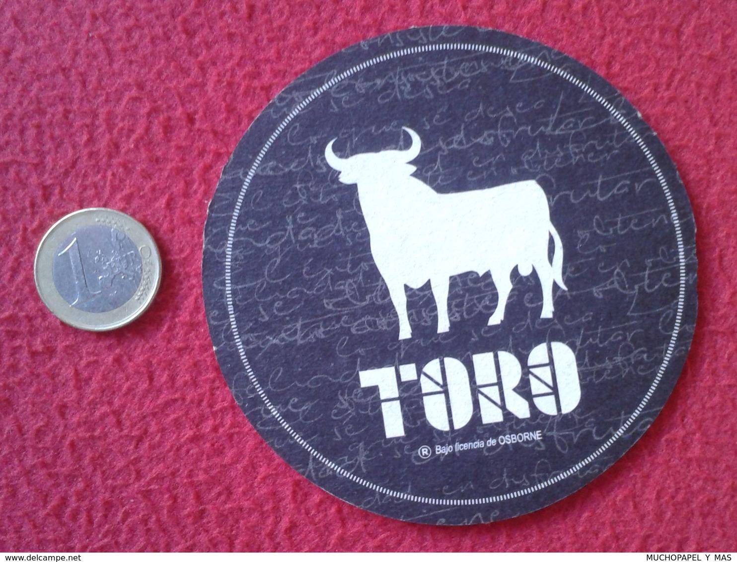 SPAIN POSAVASOS RARE COASTER MAT IMAGEN ANIMAL TORO BULL TAUREAU OSBORNE VINO ? WINE ? LICOR ? VER FOTOS Y DESCRIPCIÓN - Portavasos