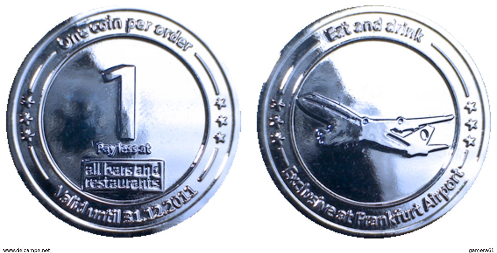 03153 GETTONE TOKEN JETON VENDING DUTY FREE FRANKFURT AIRPORT 1 EURO 2011 - Allemagne