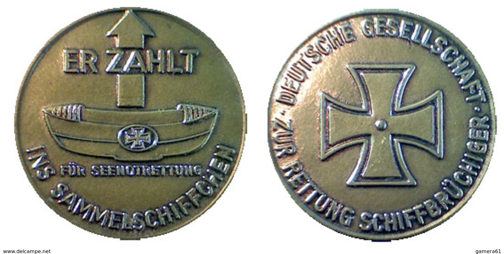 """01887 GETTONE TOKEN JETON FICHA Erhaltung: Vz Um 1960 """"Er Zahlt Für Seenotrettung Ins Sammelschiffchen"""" - Allemagne"""