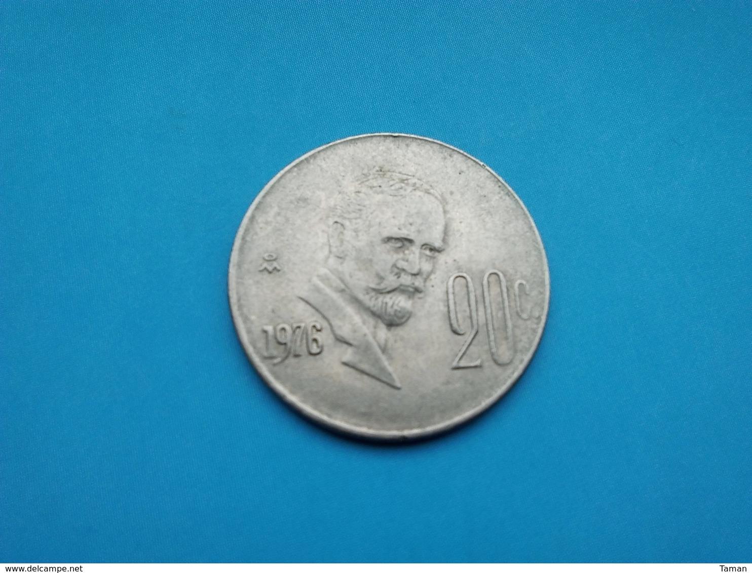 MEXIQUE  20 Centavos  1976 - Messico