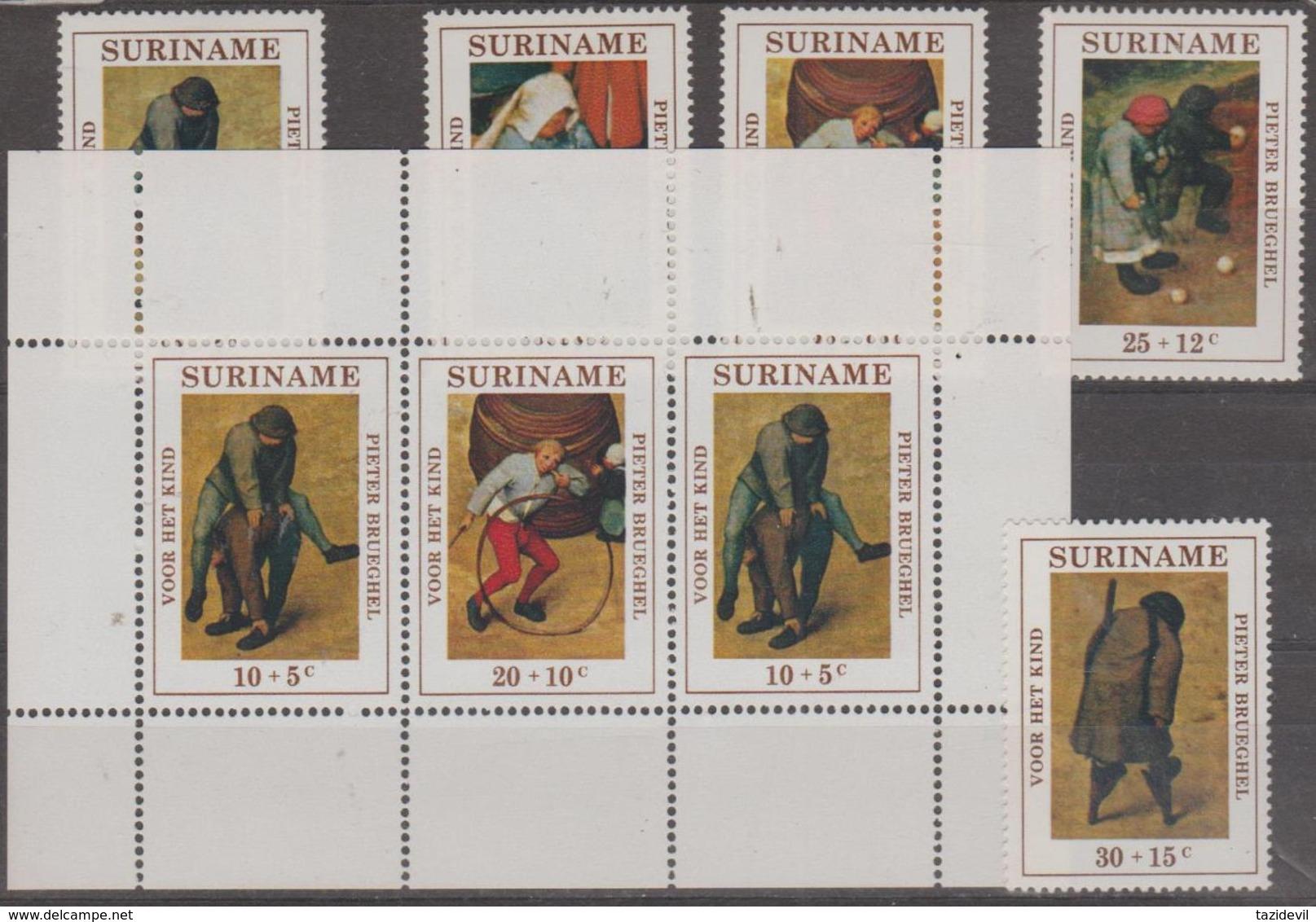 SURINAM - 1971 Children's Games Set Plus Souvenir Sheet. Scott B177-181a. MNH ** - Surinam ... - 1975