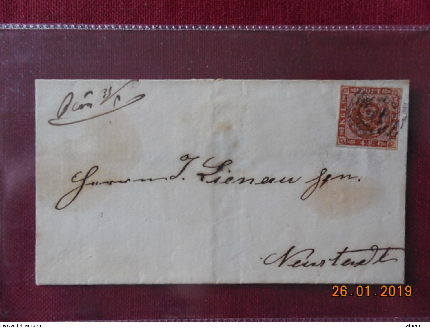 Lettre Du Danemark 1863 - 1851-63 (Frederik VII)
