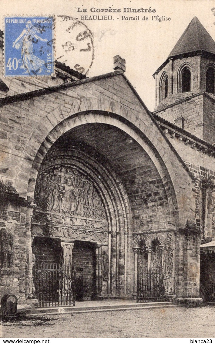 B55678 Beaulieu, Portail De L'église - France