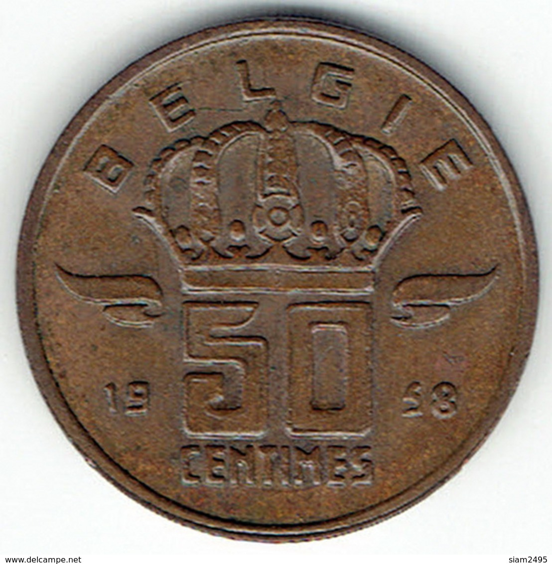 Belgium, 50 Centimes 1958 (NL) - 1951-1993: Baudouin I