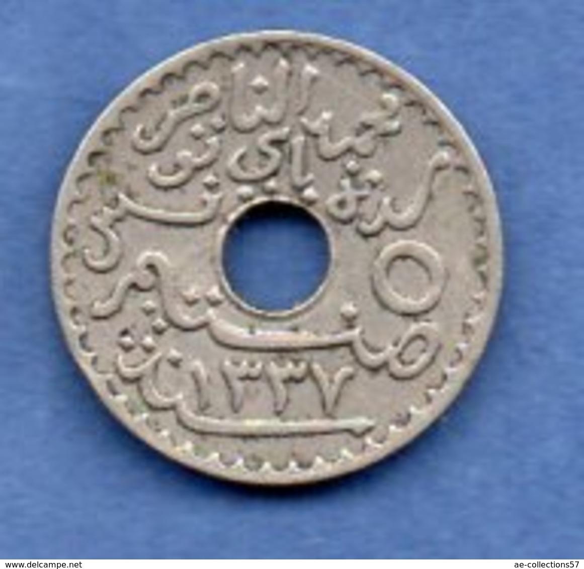 Tunisie  - 5 Centimes 1918   -  état  TTB - Tunisia