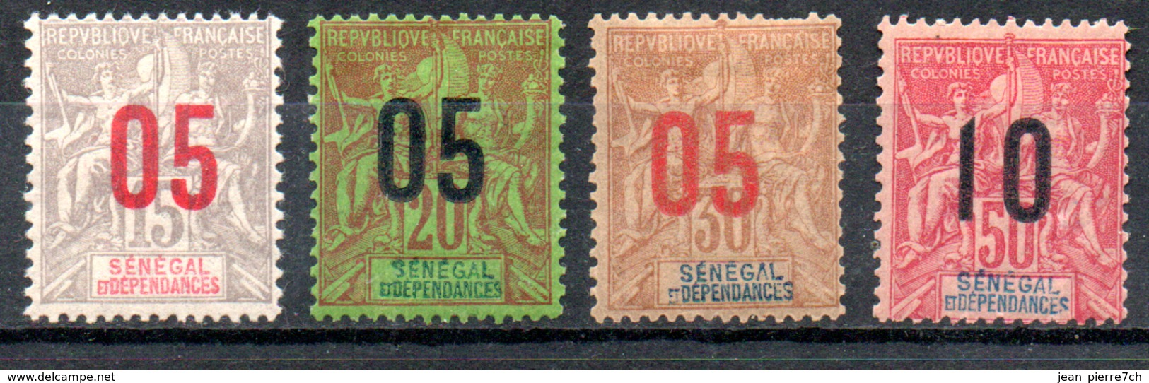 Sénégal  Senegal  Y&T 48* - 50*, 52* - Senegal (1887-1944)