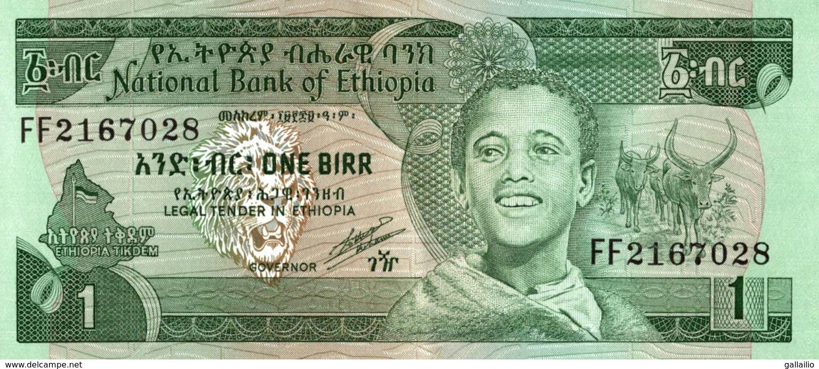 BILLET ETHIOPIE 1 BIRR - Ethiopie
