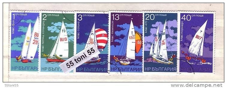 1973 AQUATIC SPORTS - Sailing 6v. Perf.- Used/oblit.(O) BULGARIA / Bulgarie - Gebraucht
