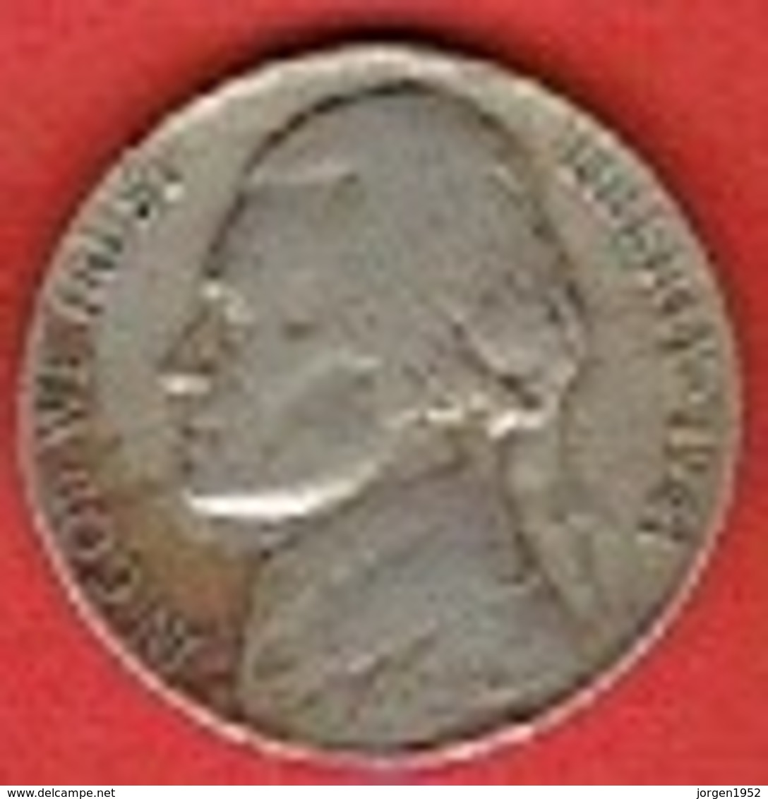 """UNITED STATES  # 5 Cents """"Jefferson Nickel"""" 1st Portrait FROM 1941 - Federal Issues"""