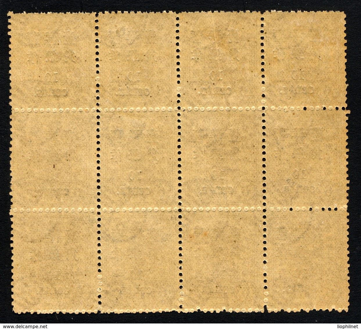 CHINE CHINA 1897, Yvert 22**, Bloc De 12 Exemplaires, Impératrice Douairière, Surcharge 10c Sur 6c Brun, Neuf** / MNH - Chine