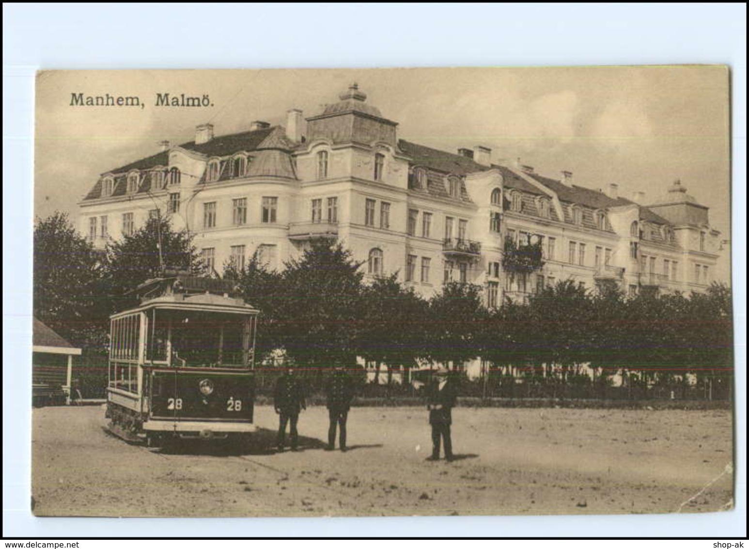 XX004387/ Malmö  Manhem  Straßenbahn AK Schweden Ca.1920 - Zweden