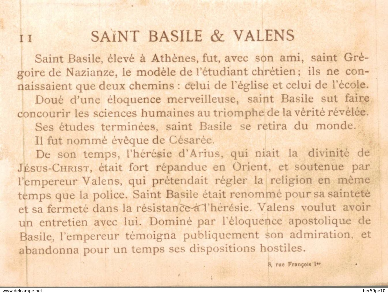 CHROMO  L'EMPEREUR VALENS & SAINT BASILE - Cromos