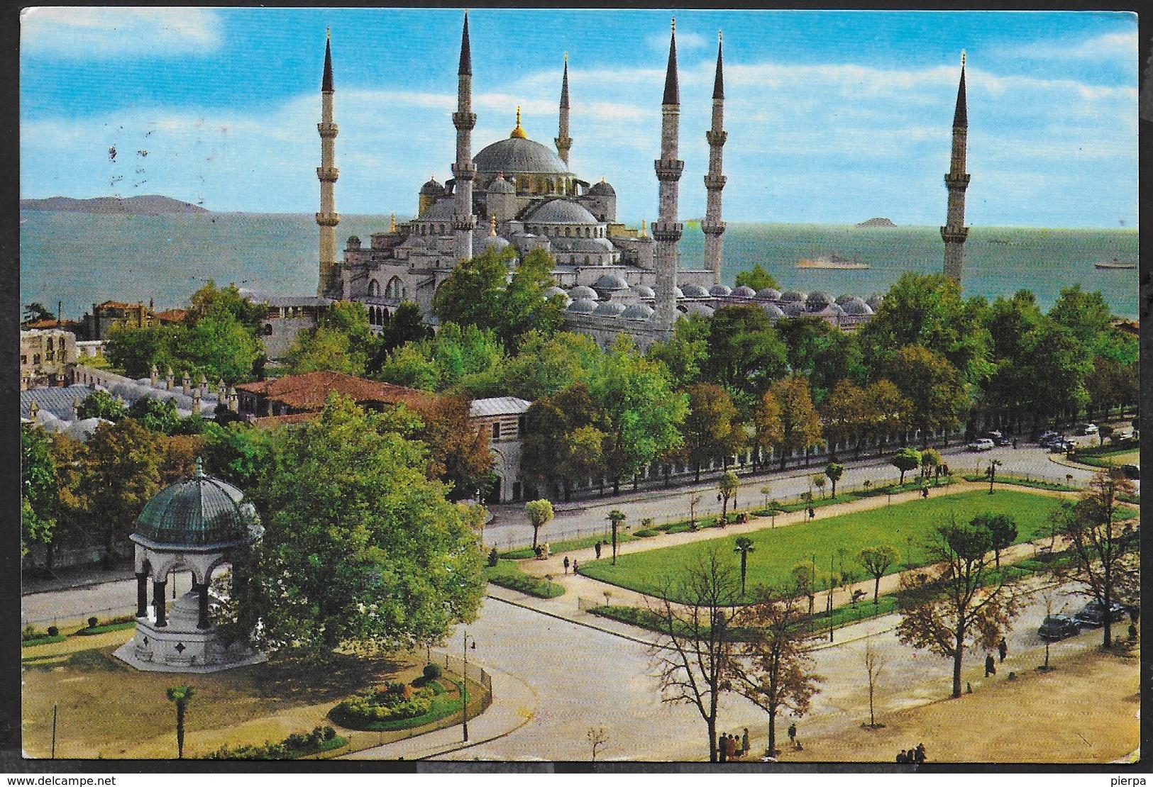 TURCHIA - ISTAMBUL - LA MOSCHEA BLU - VIAGGIATA 1986 - Turchia