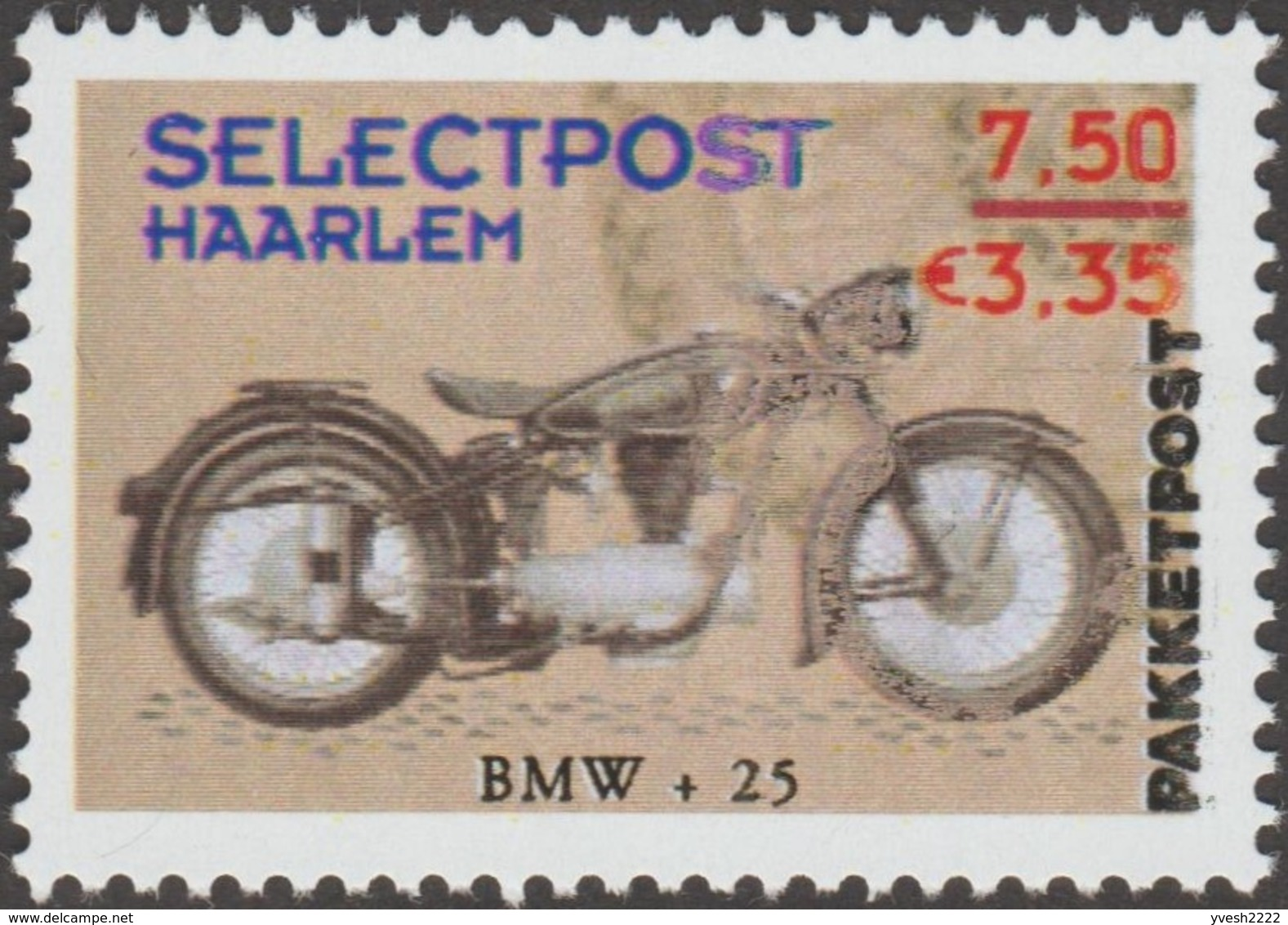 Pays-Bas 2001. Poste Privée Selectpost. Envois De Paquets à Haarlem. Motos Twin Cylinder, BMW Et Norton - Moto
