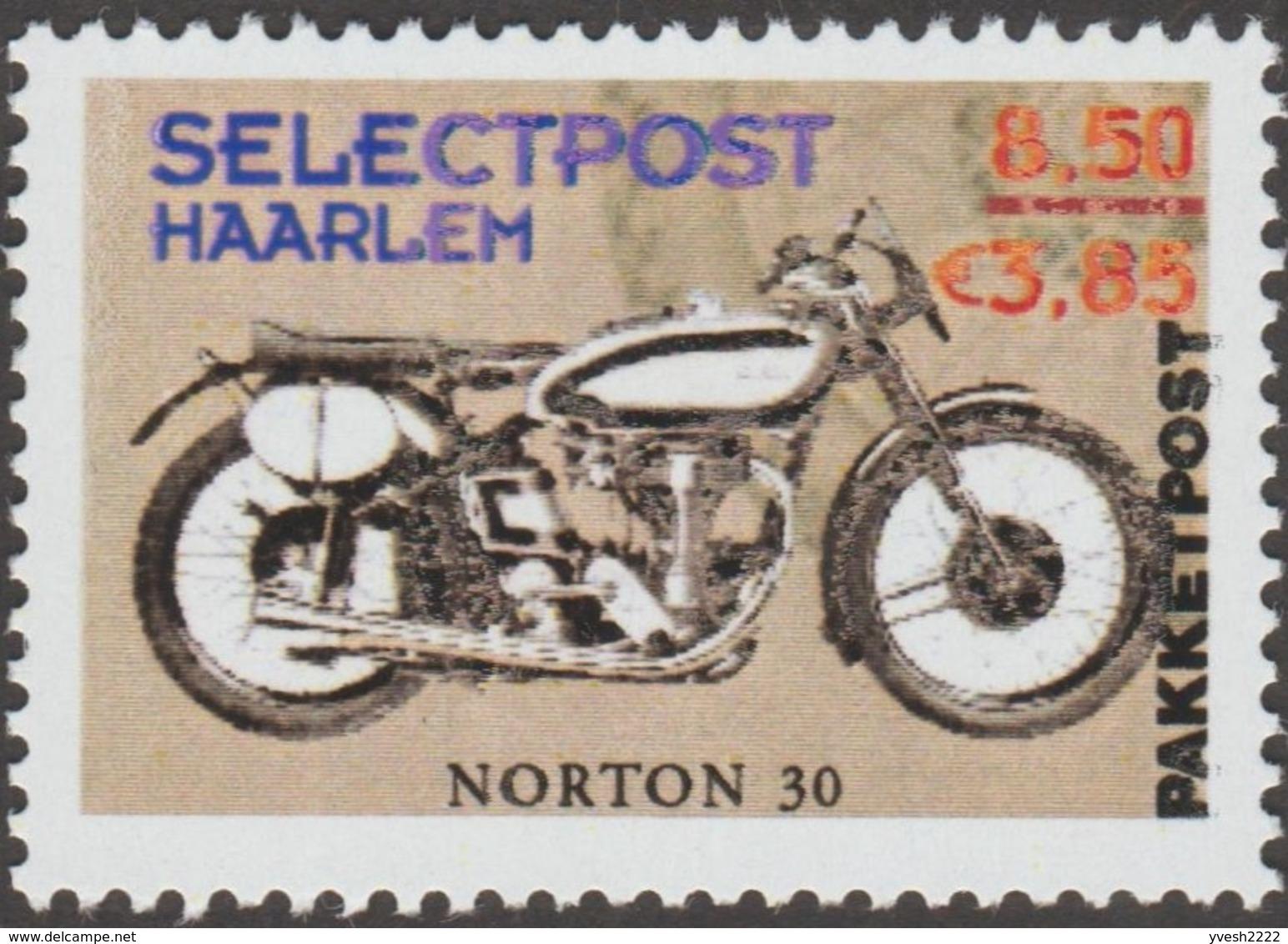 Pays-Bas 2001. Poste Privée Selectpost. Envois De Paquets à Haarlem. Motos Twin Cylinder, BMW Et Norton - Motorbikes