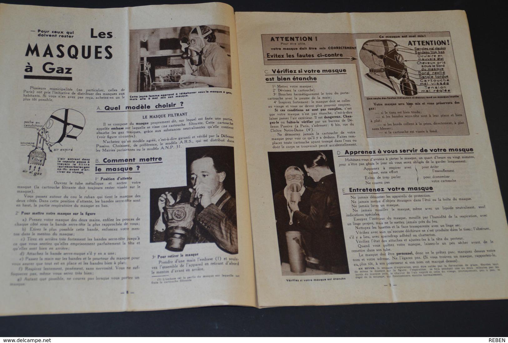 109/ Coupure De Presse-clipping - 24 Pages - Année 1939 - Militaria - Guide De Défense Passive - Libri, Riviste, Fumetti