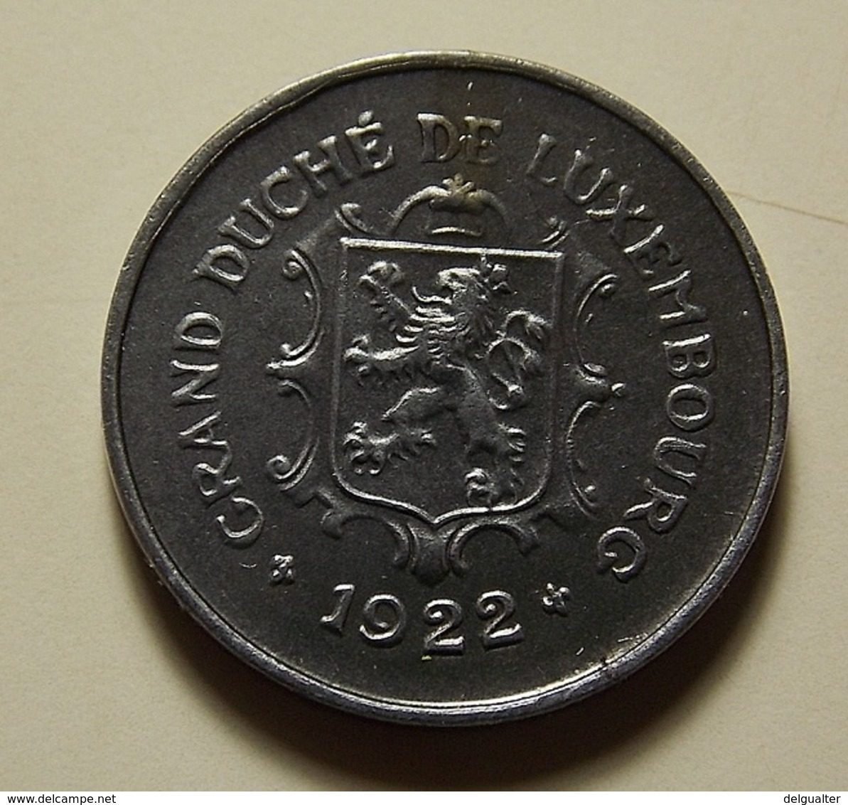 Luxembourg 5 Centimes 1922 Varnished - Luxembourg