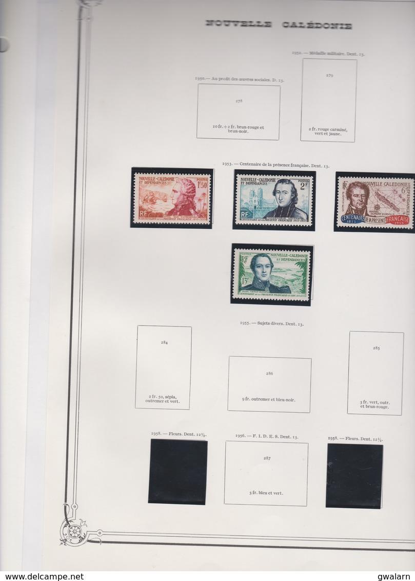 NOUVELLE CALEDONIE Sèrie Complète  4 T Neufs Xx  N°YT 280 à 283 - 1953 - Centenaire De La Présence Française - Nueva Caledonia