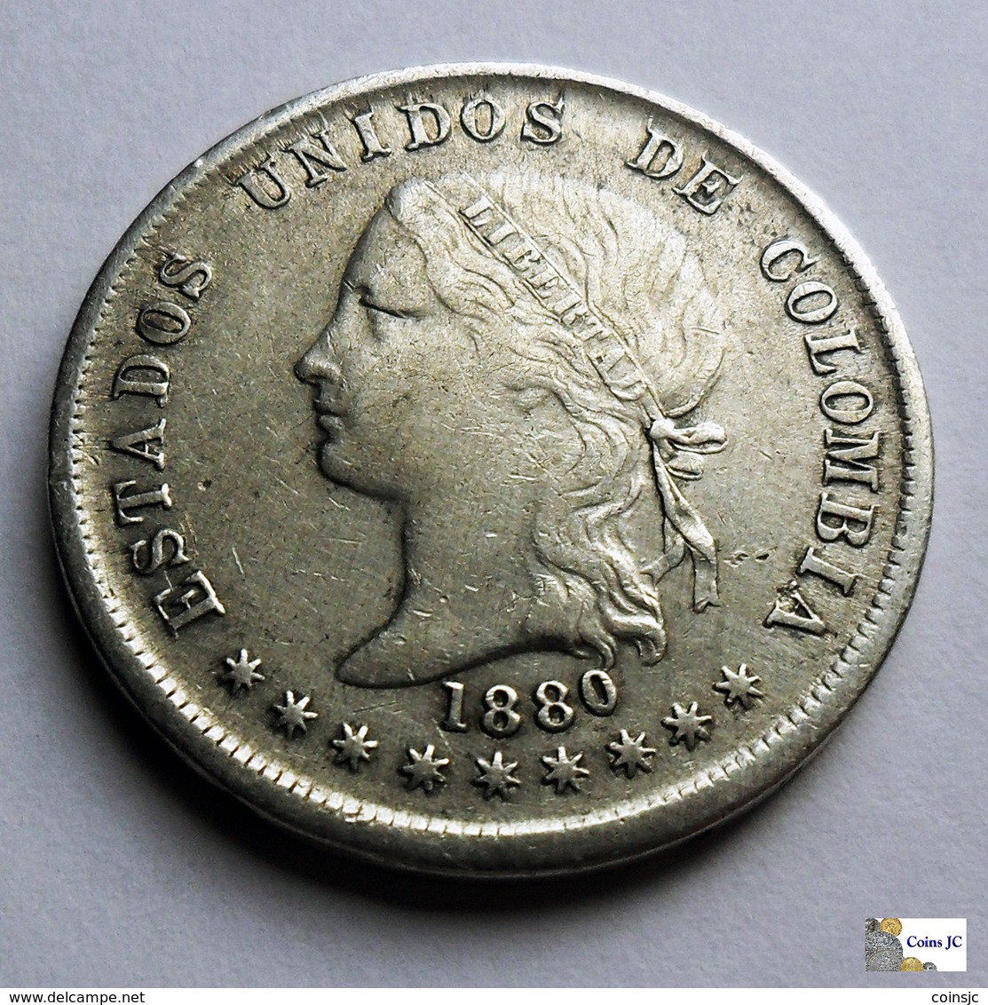 Colombia - 50 Centavos - 1880 - Colombia