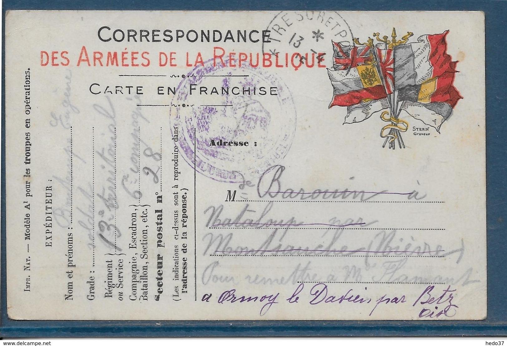 France - Carte De Franchise Militaire - Cartes De Franchise Militaire